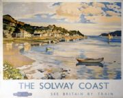 Kippford on the Solway Coast, Kirkcudbrightshire, Scotland. See Britain by Train.  British Railways Travel Poster